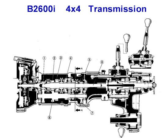 mazda b2600 transmission diagram  mazda  auto parts