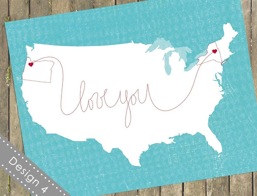 11x14 Customized Usa Maps Artwork Presents For Best