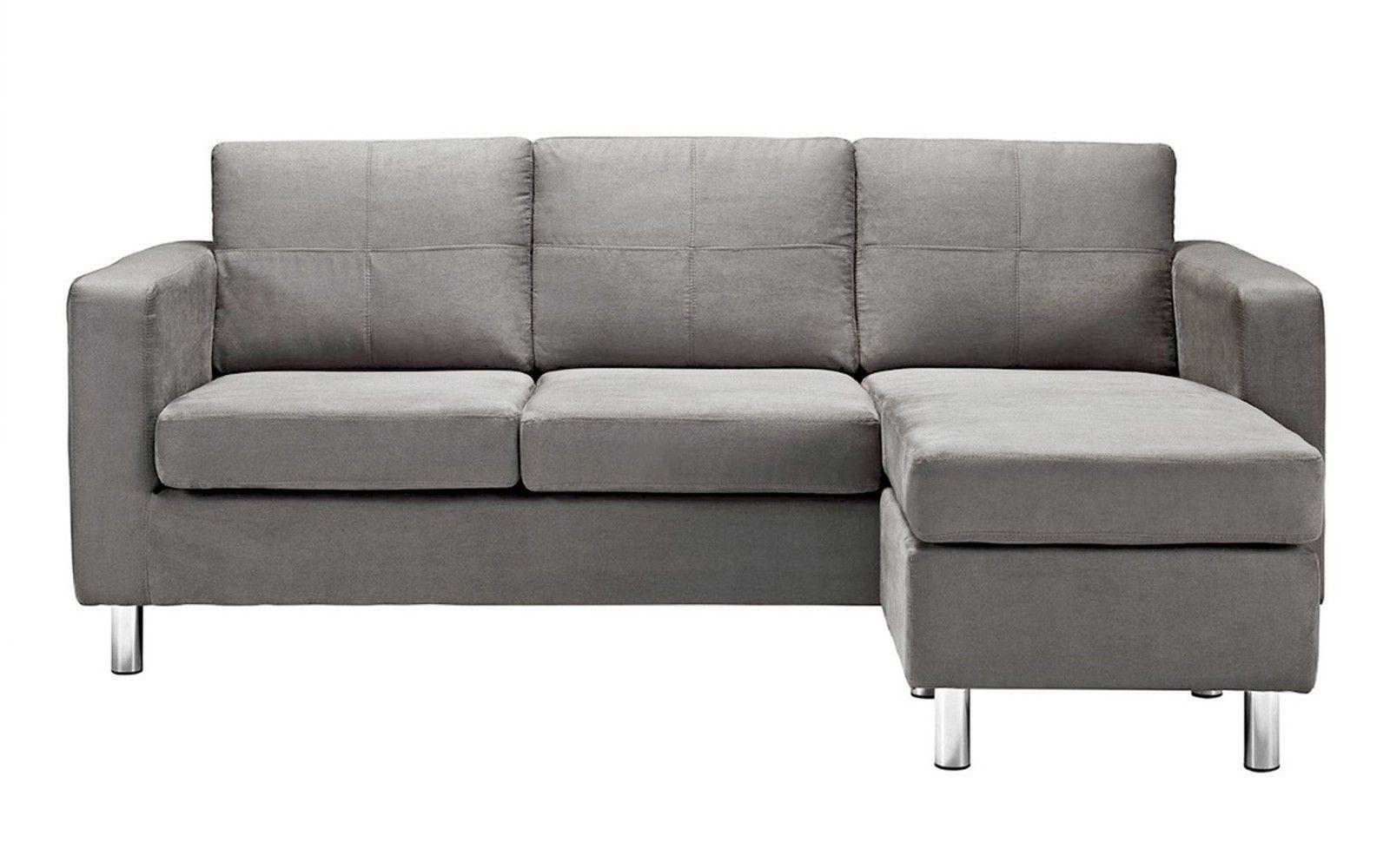 Bon Metro Modern Reversible Small Bonded Leather Sectional