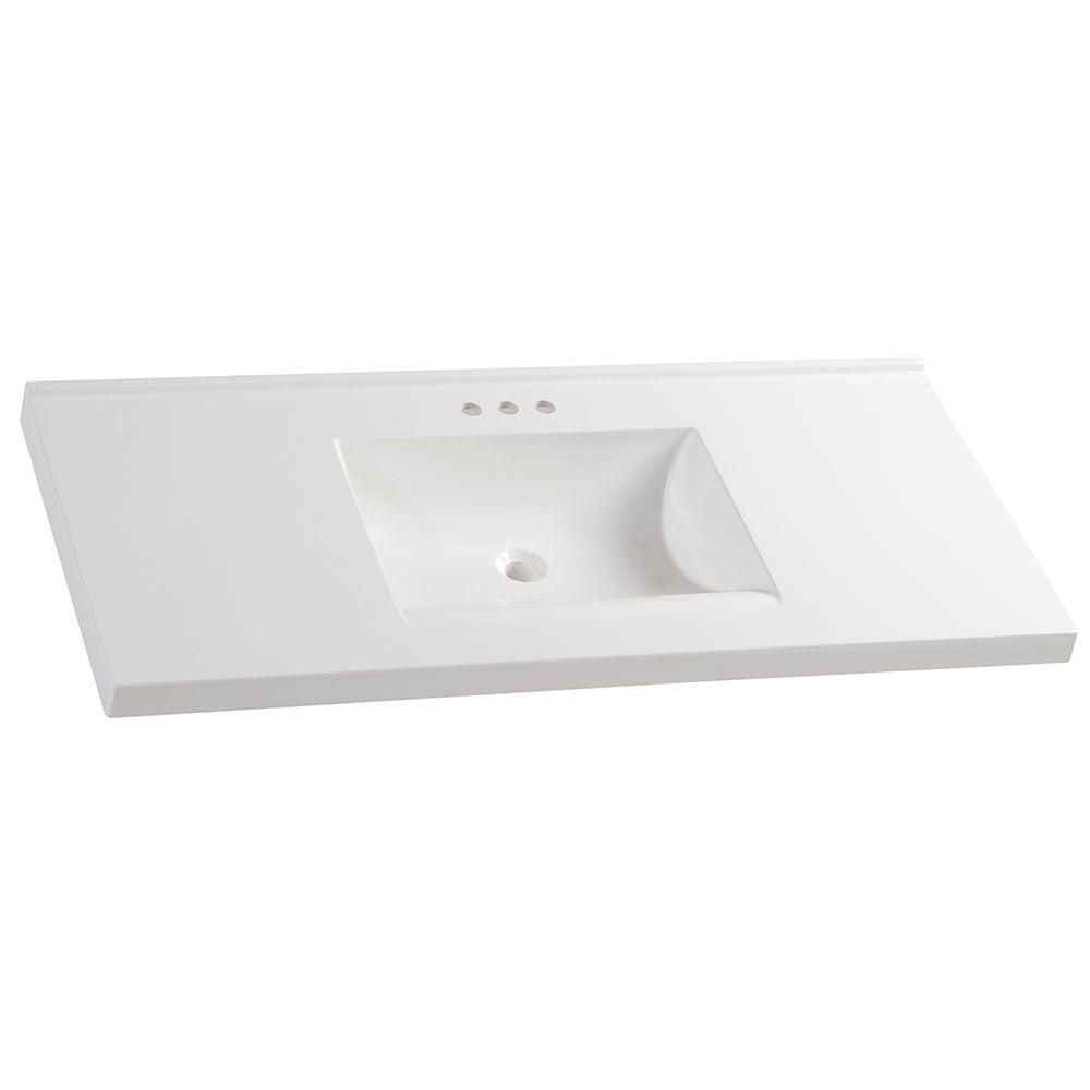 Glacier Bay 49 In W X 22 In D Cultured Marble Vanity Top In