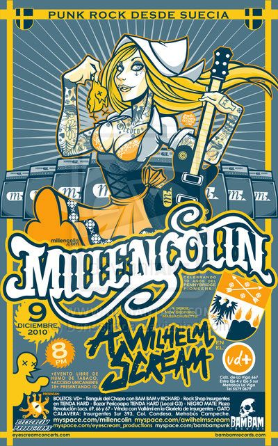 poster millencolin a wilhelm scream cool bands pinterest