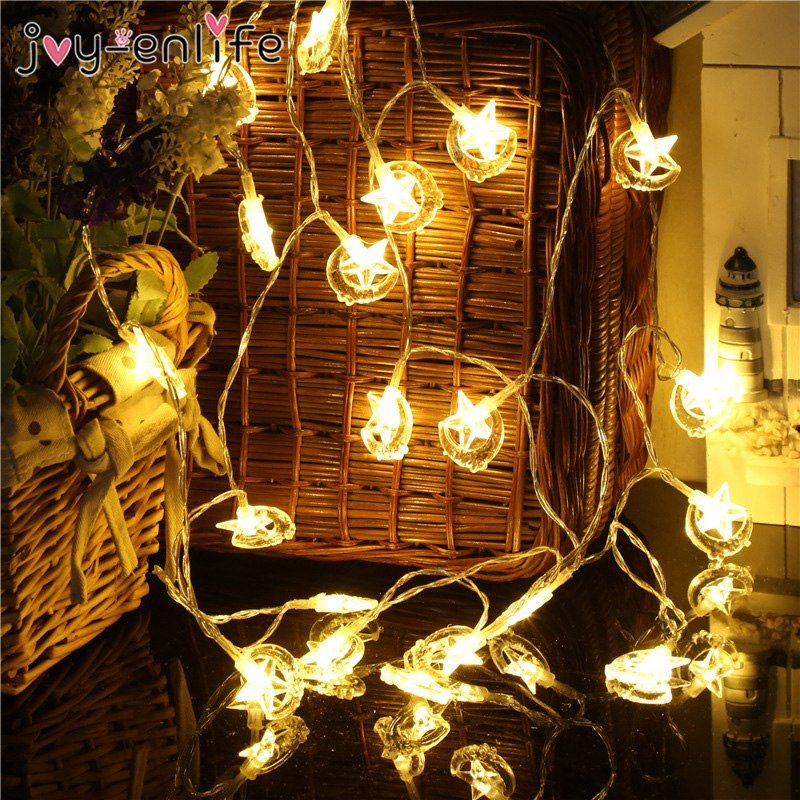 Eid Mubarak Led Light Strip Star Moon Led Lights Decoration Eid Party Supplies Ramadan Muslim Islam Decoration Pa Light Decorations Led Lights Led Light Strips