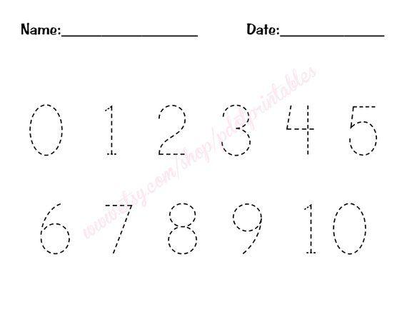 0 10 Number Trace Worksheet Pdf Printable Number Tracing