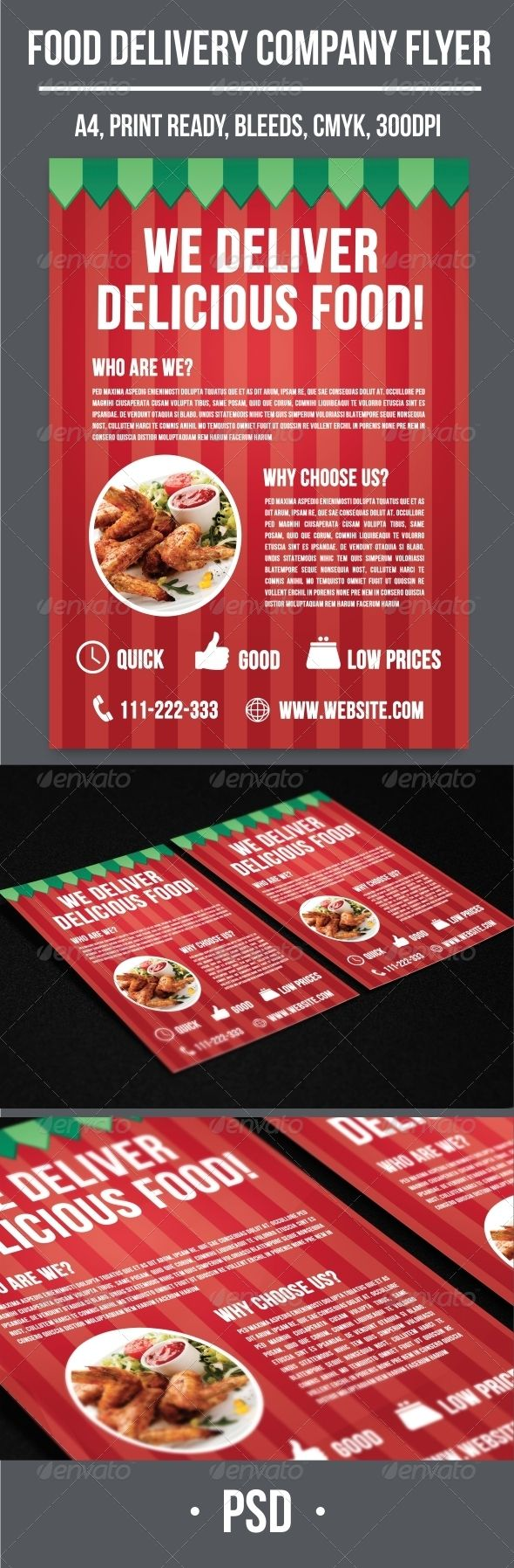 Food Delivery Company Flyer | Find fonts