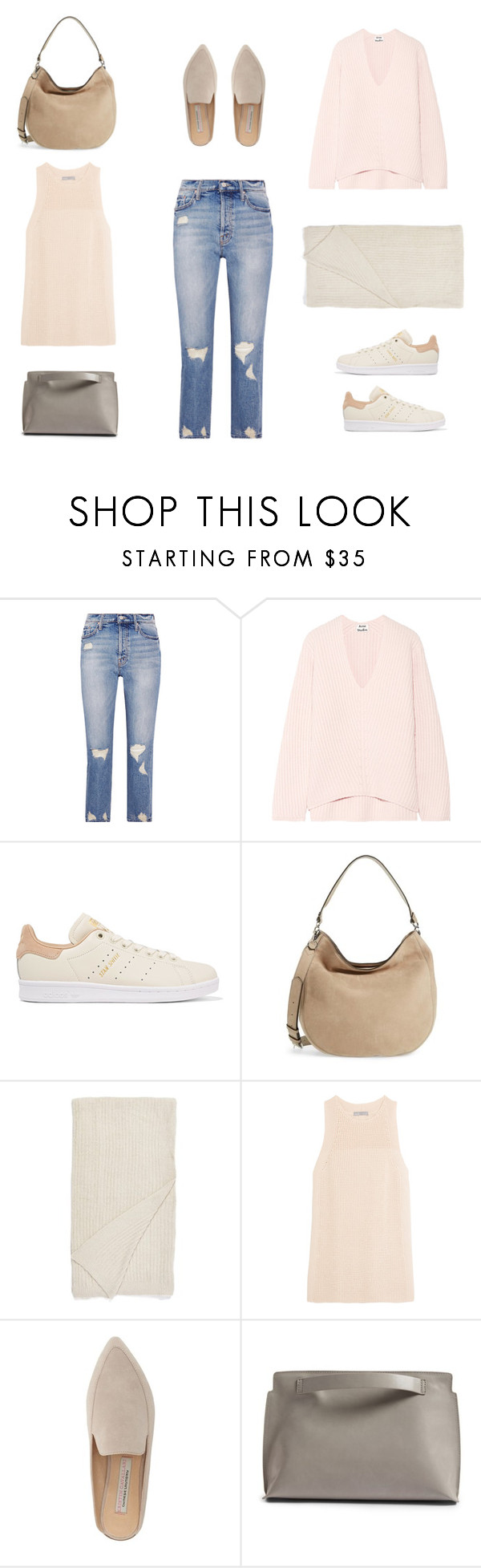 """""""untitled"""" by sarahswansondesign ❤ liked on Polyvore featuring Mother, Acne Studios, adidas Originals, Rebecca Minkoff, Barefoot Dreams, Vince, Kristin Cavallari and BP."""