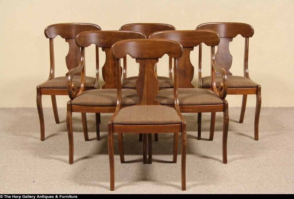Set Of 6 Empire Cherry 1940 Vintage Dining Chairs