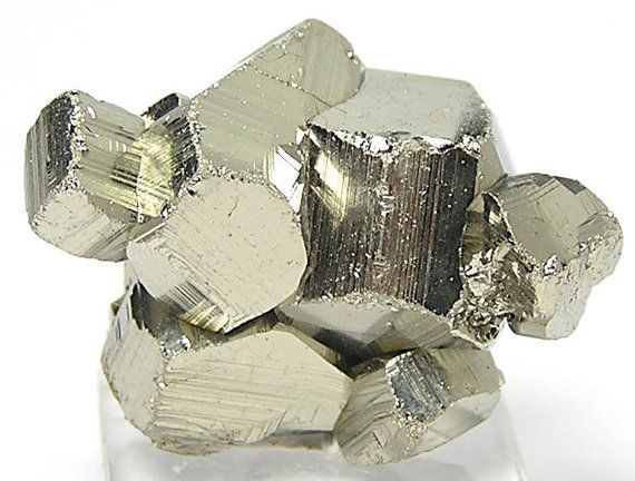 Golden Pyrite Fools Metallic Crystal Cluster by FenderMinerals,