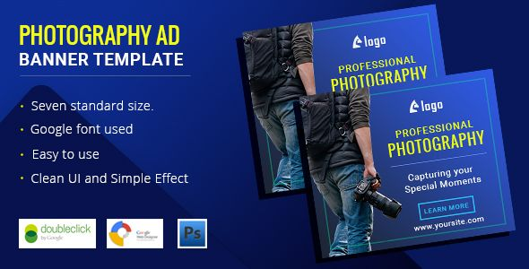 Photography Html5 Animated Banner Ads Banners Template Psd Advertising Promotional Photographer