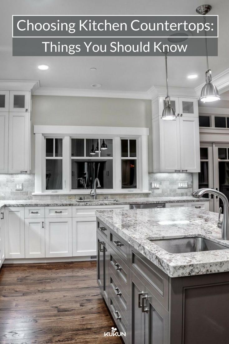 Choosing Kitchen Countertops Things You Should Know Granite Countertops Kitchen Kitchen Remodel Countertops Kitchen Countertops