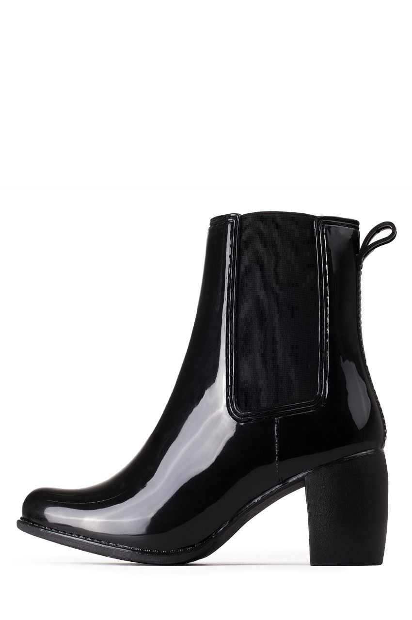 265f5da29b9 Jeffrey Campbell Shoes CLIMA Boots in Black Shiny