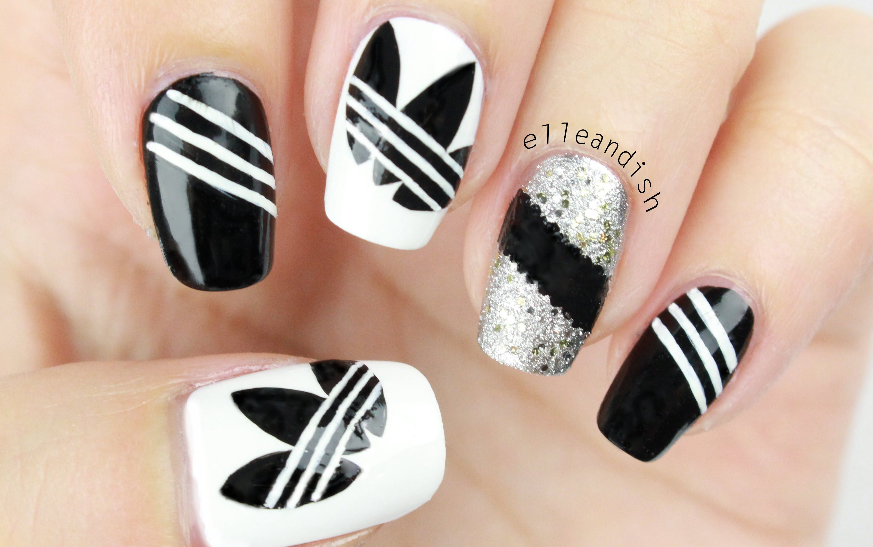 30+ Simple But Artistic Nail Art Collections To Inspire You | Check, Adidas  and Manicure