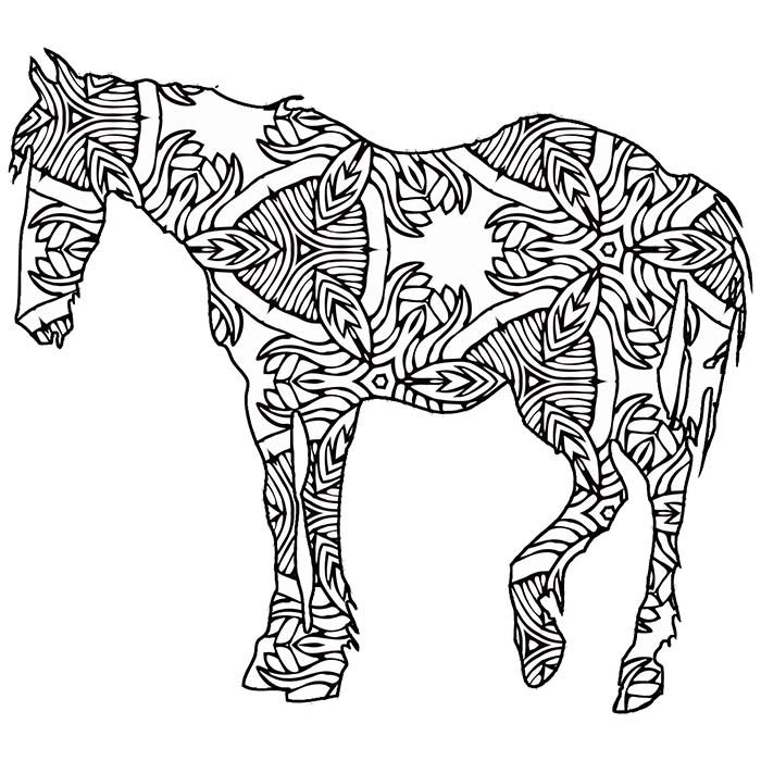 30 Free Printable Geometric Animal Coloring Pages The Cottage Market Coloring Pages Nature Horse Coloring Pages Geometric Animals
