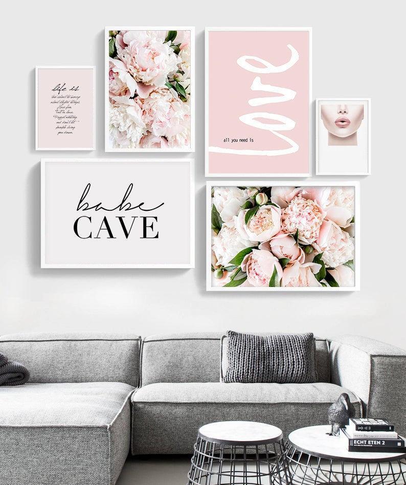 rose Cafe Art Decor Gallery wall photo Printable Pink peony Peony Art Print Peony Wall Art Paris Wall decor Paris Decor Bedroom