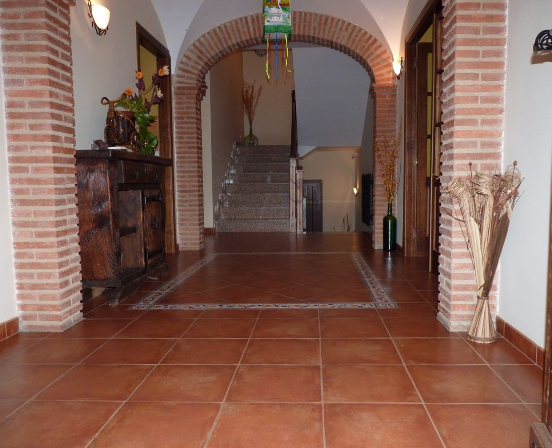 Rural hotel with ceramic floor tiles to give it a rustic look rural hotel with ceramic floor tiles to give it a rustic look dailygadgetfo Choice Image