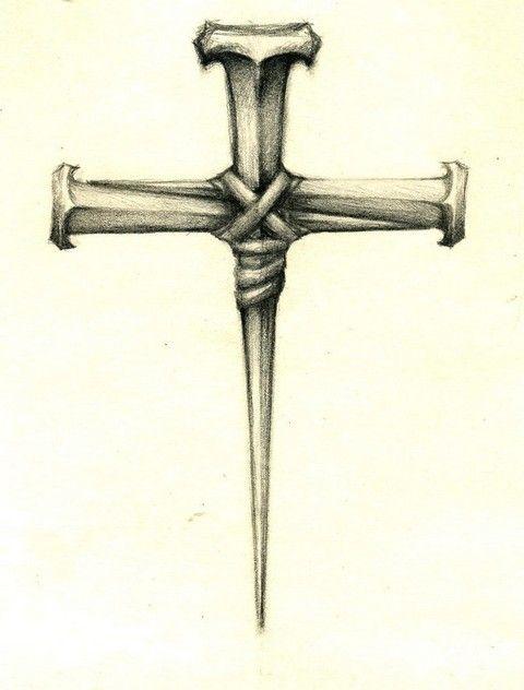 Nail cross tattoos cross tattoos pinterest for Old rugged cross tattoo designs