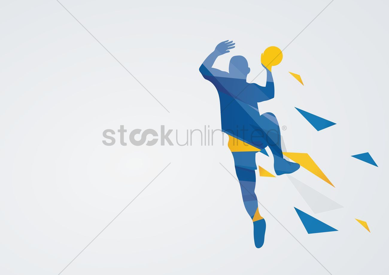 Handball In Action Vector Illustration Ad Action Handball Illustration Vector Affiliate