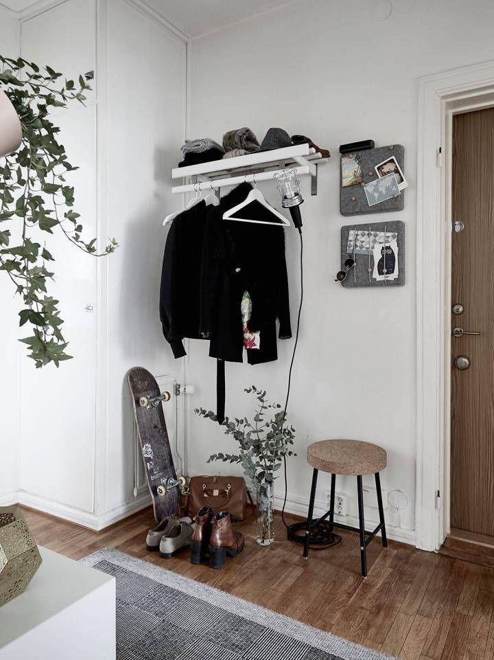 Un rincón de trabajo en el salón Scandinavian, Interiors and Room