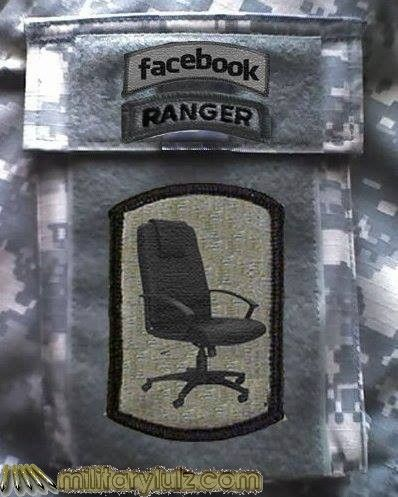 Chair Force Patch Military Humor Ranger Funny