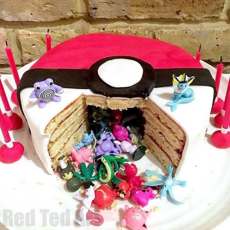 Photo of DIY Pokemon Cake – Überraschung Pinata Pokeball Kuchen – Papierkunst – Eindruck…