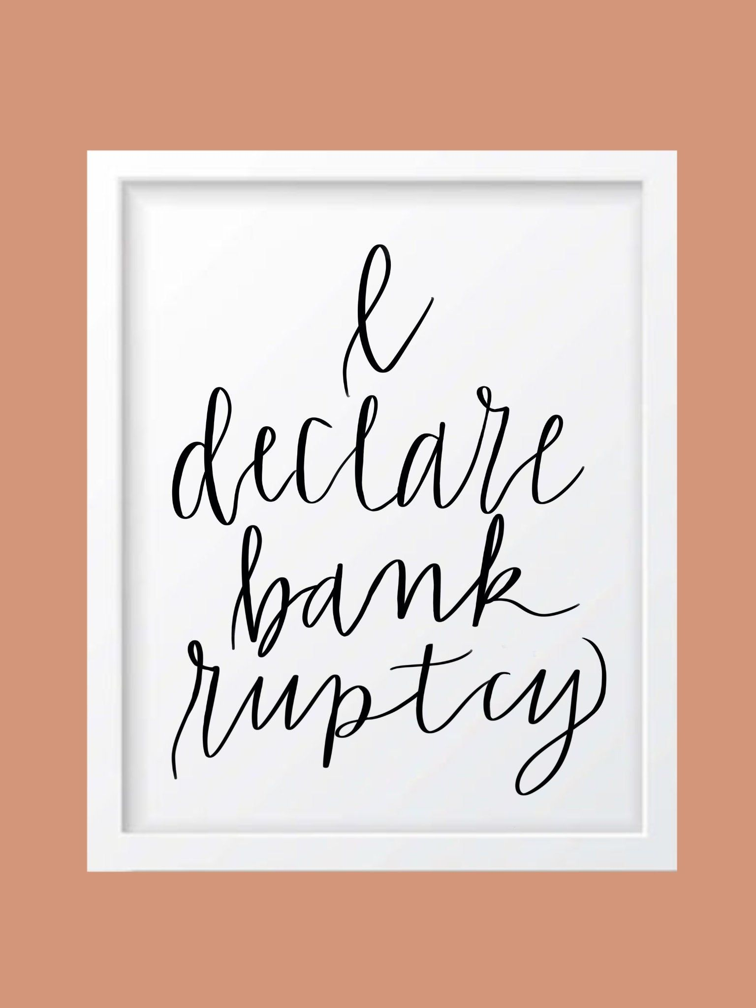 I Declare Bankruptcy Michael Scott The Office Quote Downloadable By Lasisterscloset On Etsy Michael Scott The Office Office Quotes Michael Scott