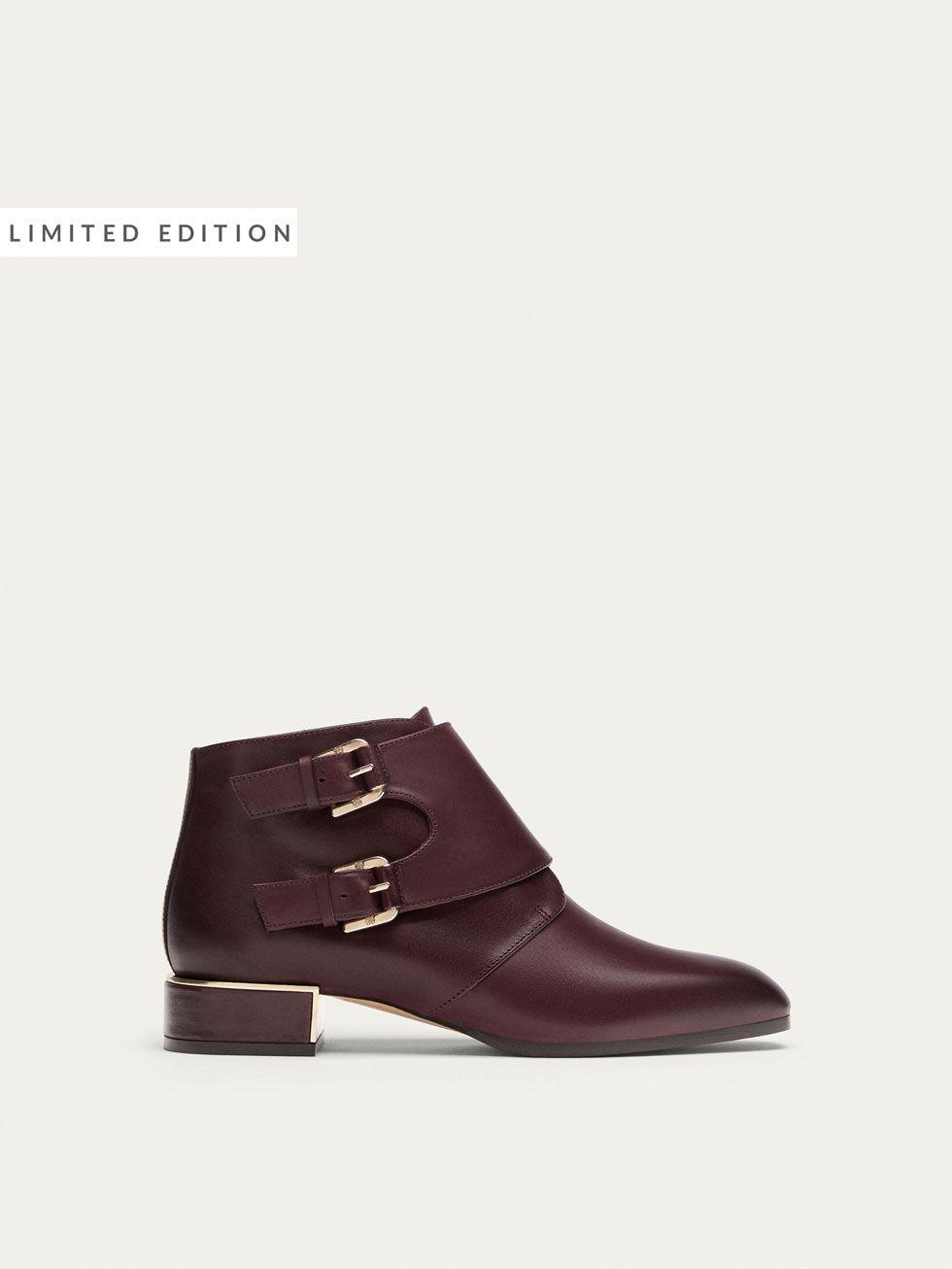 Botin Zapatos Hebillas Burdeos Mujer Massimo De Todo Piel Ver gTvrzqng