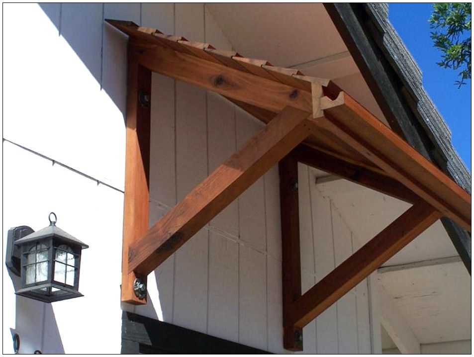 Wooden awnings outdoor space ideas pinterest window for Door awning ideas