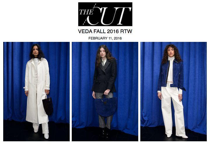 VEDA FW16 presentation featured on NYMag The Cut