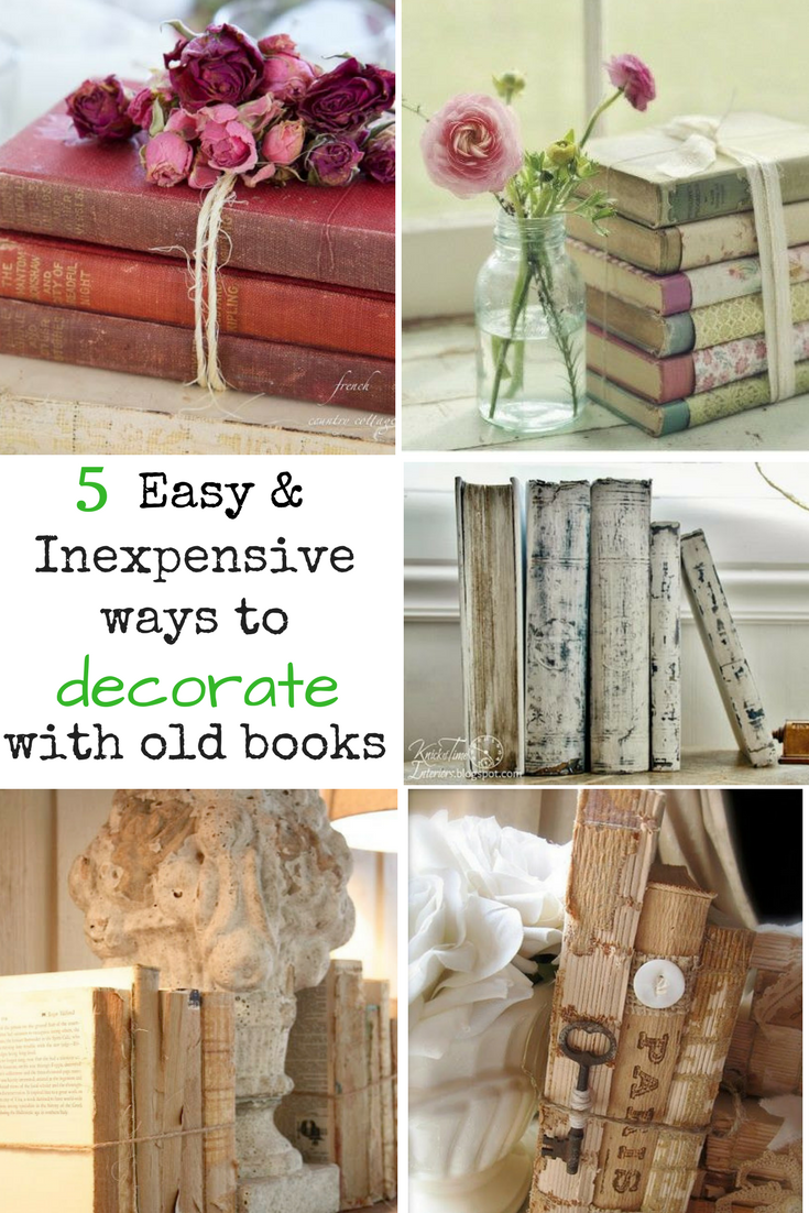 5 Easy Ways To Upcycle And Decorate With Vintage Books Decorate