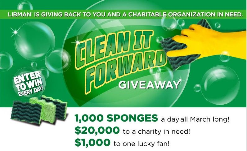 """The Libman """"Clean It Forward"""" Sweepstakes If you win"""