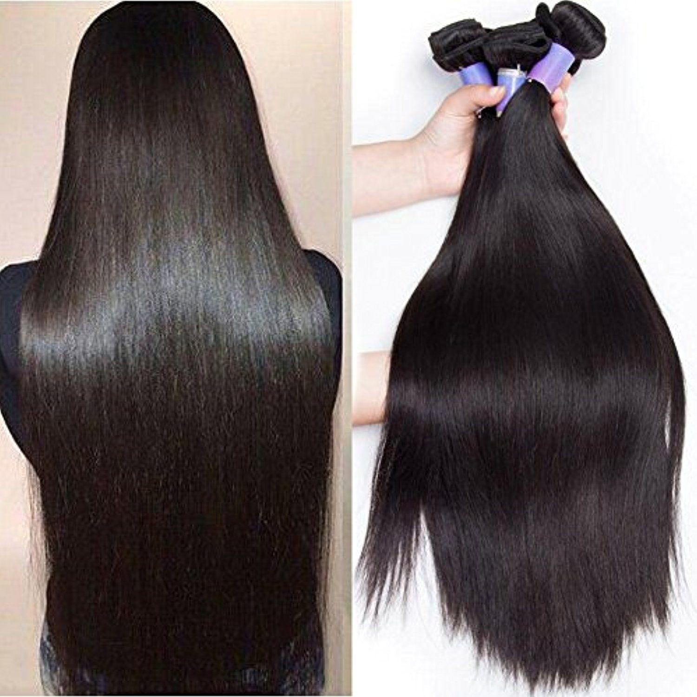 Guangxun Hair 7a Brazilian Straight Hair Weaves 4pcslot Virgin Remy