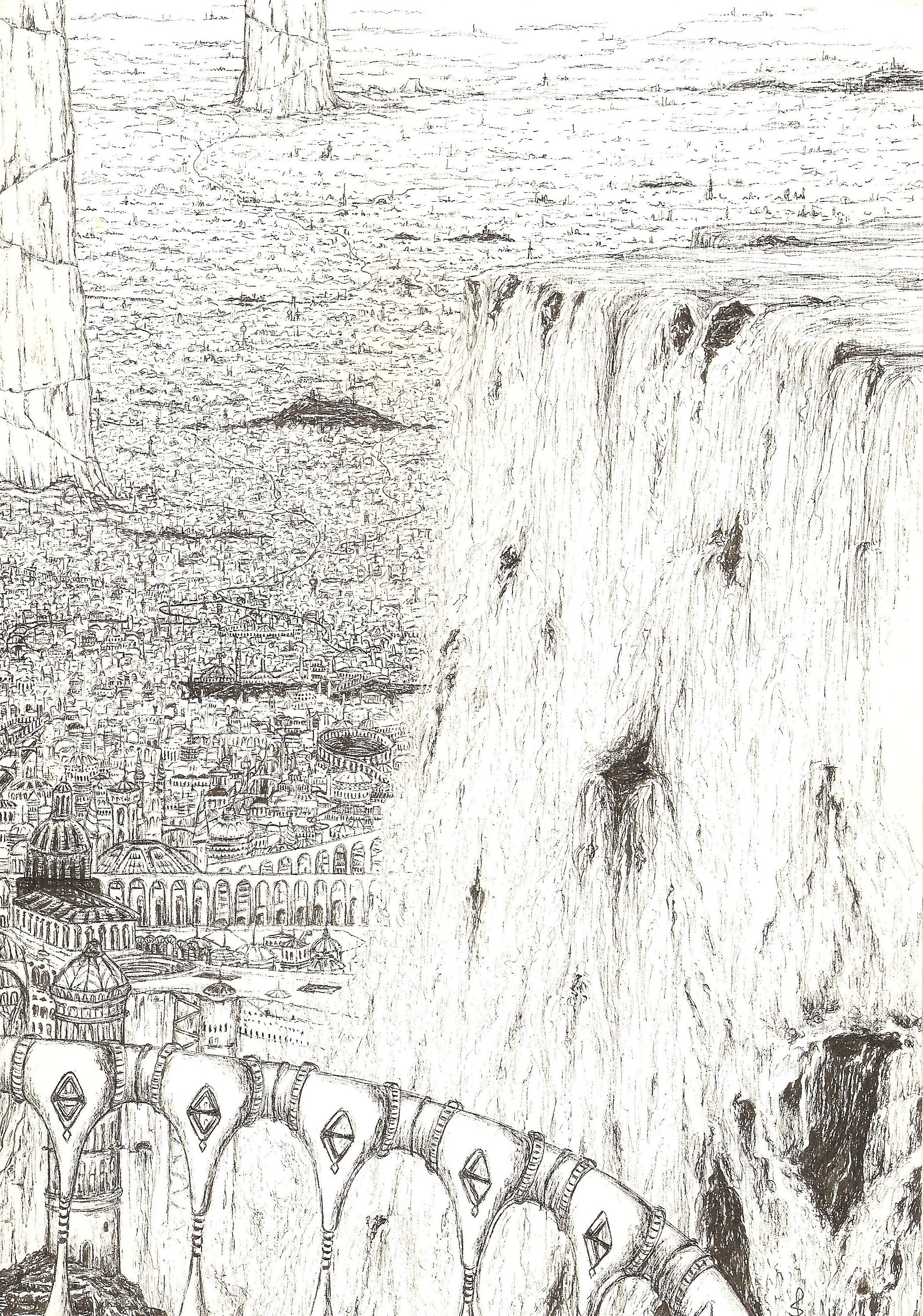 Kallorm, 'City of Light', a vast subteranean metropolis beneath the Congolese jungles. Largest and most ancient of all the Dworllian realms.