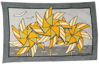Hermes Grey Pinwheel beach towel...and at around $530.00, everyone should have one!  (oh my?)
