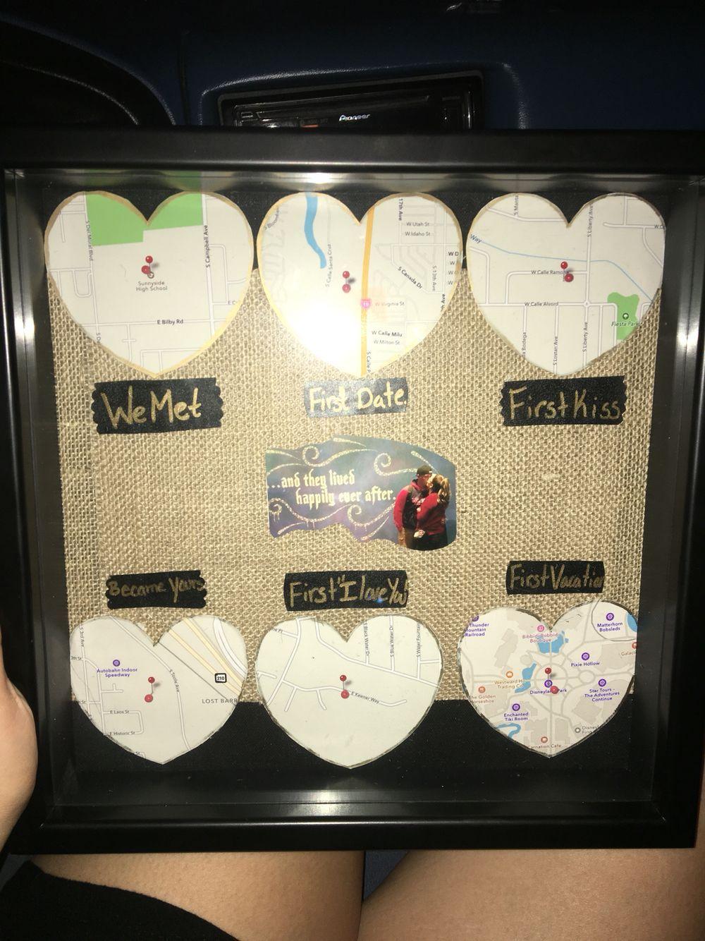 Anniversary present I made for my boyfriend ☺️ #homemadeboyfriendgifts