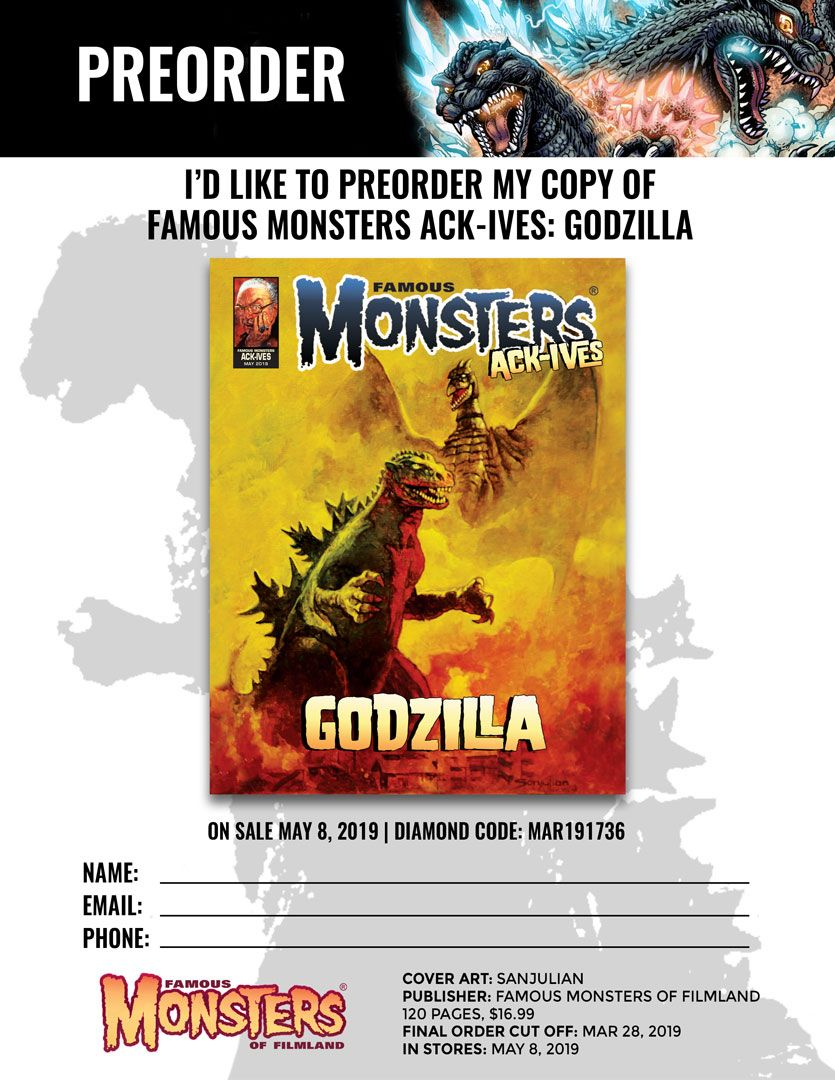 Preorder the Godzilla Ack-Ives Through Your Local Comic Shop