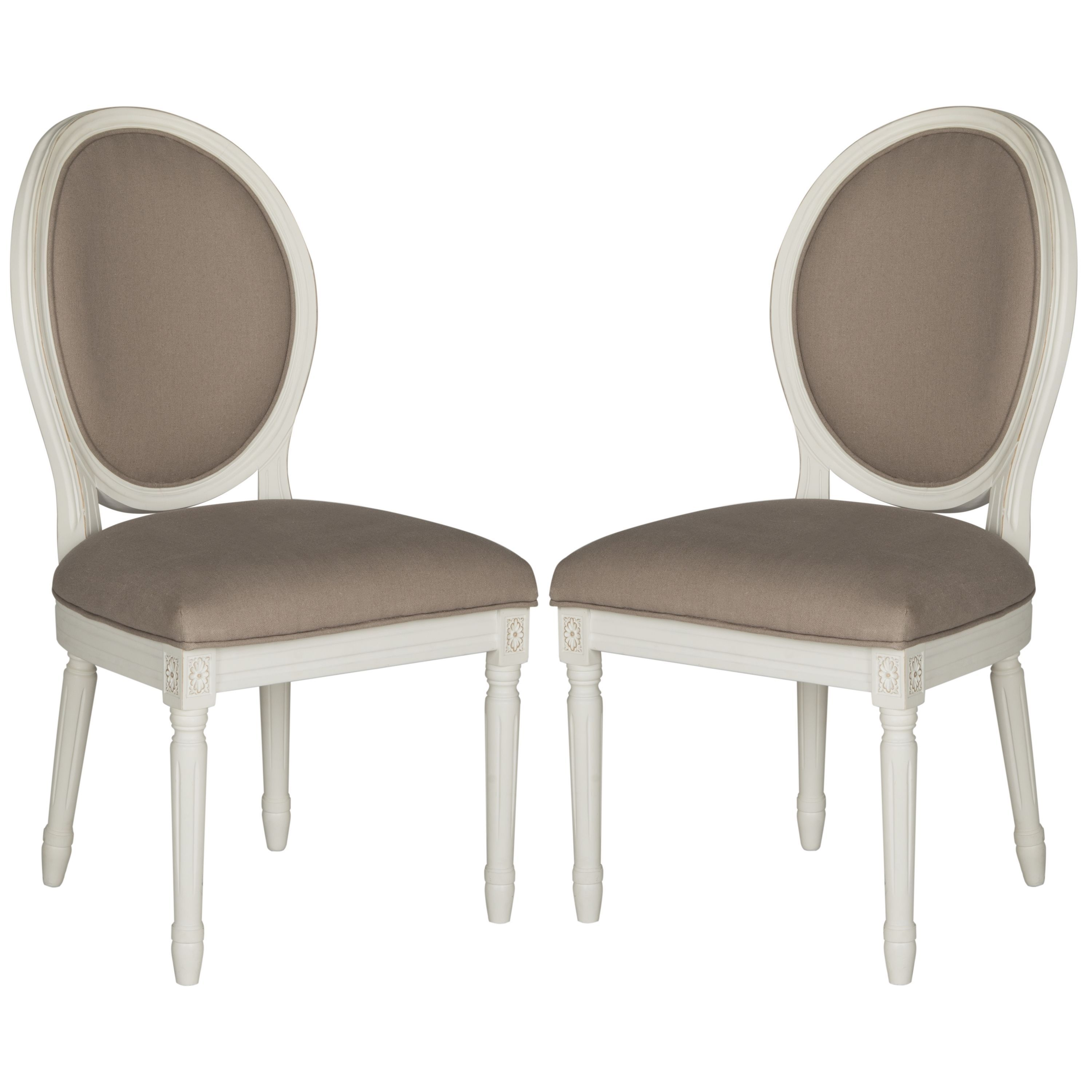 Safavieh Holloway Taupe Oval Side Chair (Set of 2) (As Is Item ...