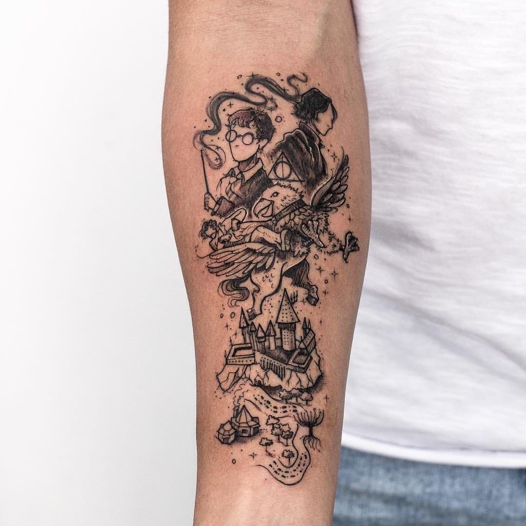 Harry Potter Robsoncarvalho Brazilianartist Illustration Sketchstyle Harrypotter Jkr Harry Potter Tattoos Harry Potter Tattoo Sleeve Harry Potter Tattoo