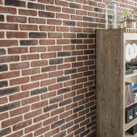 plaquette de parement pl tre rouge chelsea cuisine pinterest. Black Bedroom Furniture Sets. Home Design Ideas
