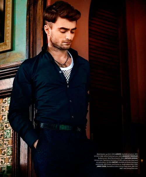 M: Daniel Radcliffe, P: Kevin Sinclair, S: Michael Fisher (Essential Homme August/September 2014)