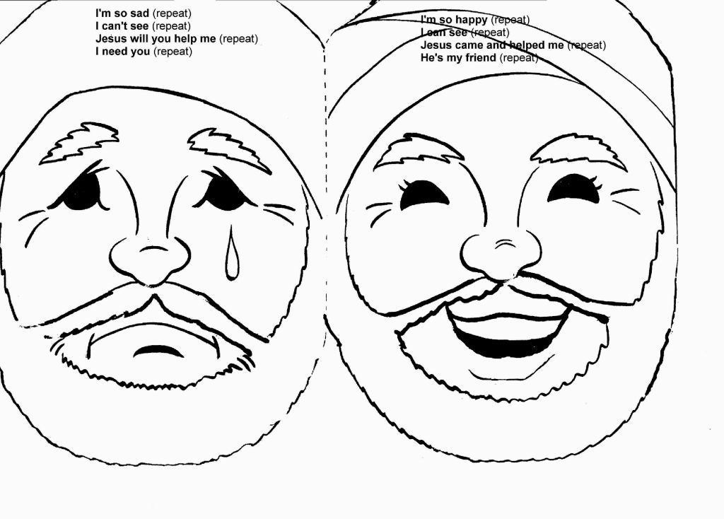 Jesus Heals Blind Man Coloring Page Graphic Cool Children S Church