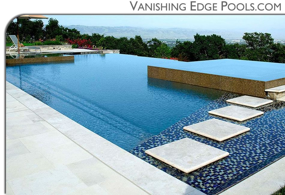 Vanishing edge pools custom swimming pool by for Pool negative edge design