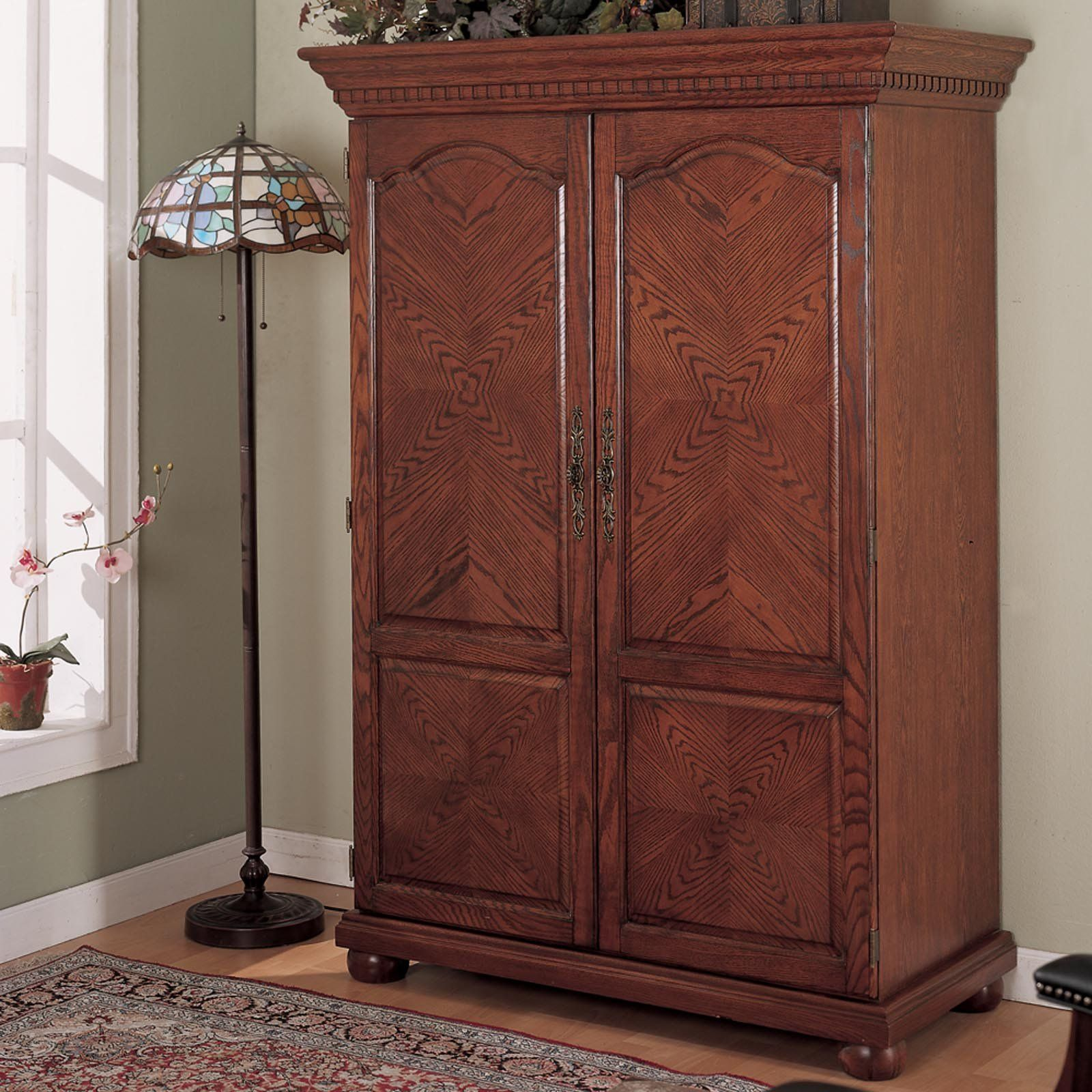 Have To Have It Sunrise Computer Armoire Traditional Oak