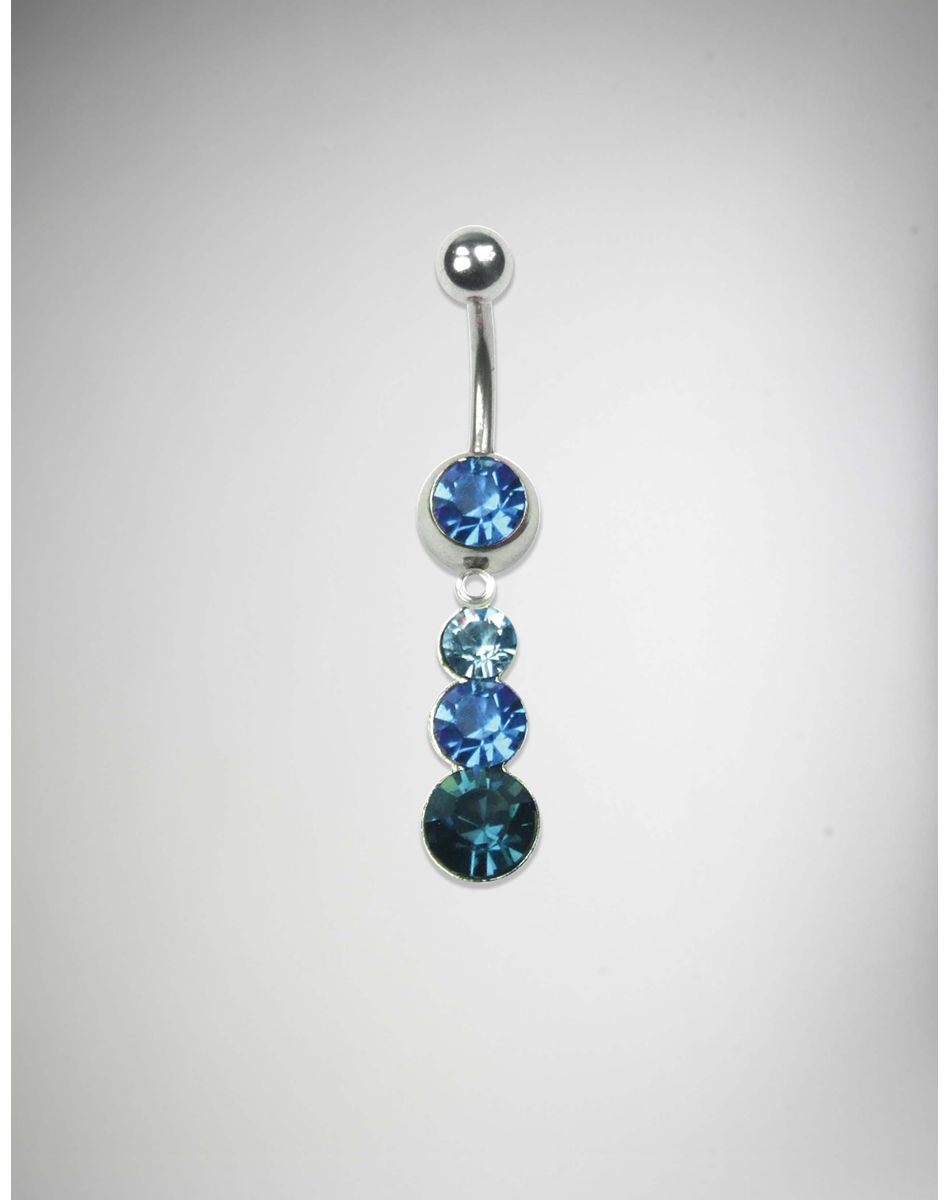 hot products limited guantity outlet sale 14 Gauge Blue Stone Swarovski Belly Piercing | Belly ...