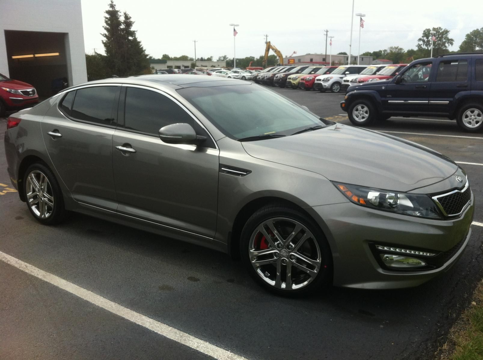 Titanium metallic 13 kia optima sxl