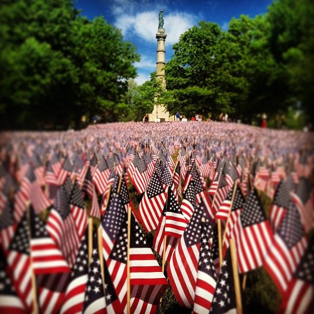 "@jlleisman's photo: ""33,000 flags to honor all the fallen heros from Massachusetts"""