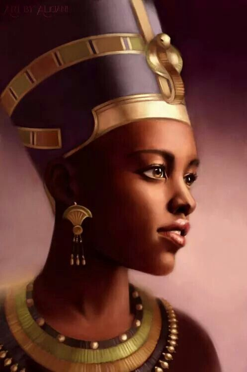 Queen Nefertiti Beautiful Black Queens of Kemet.