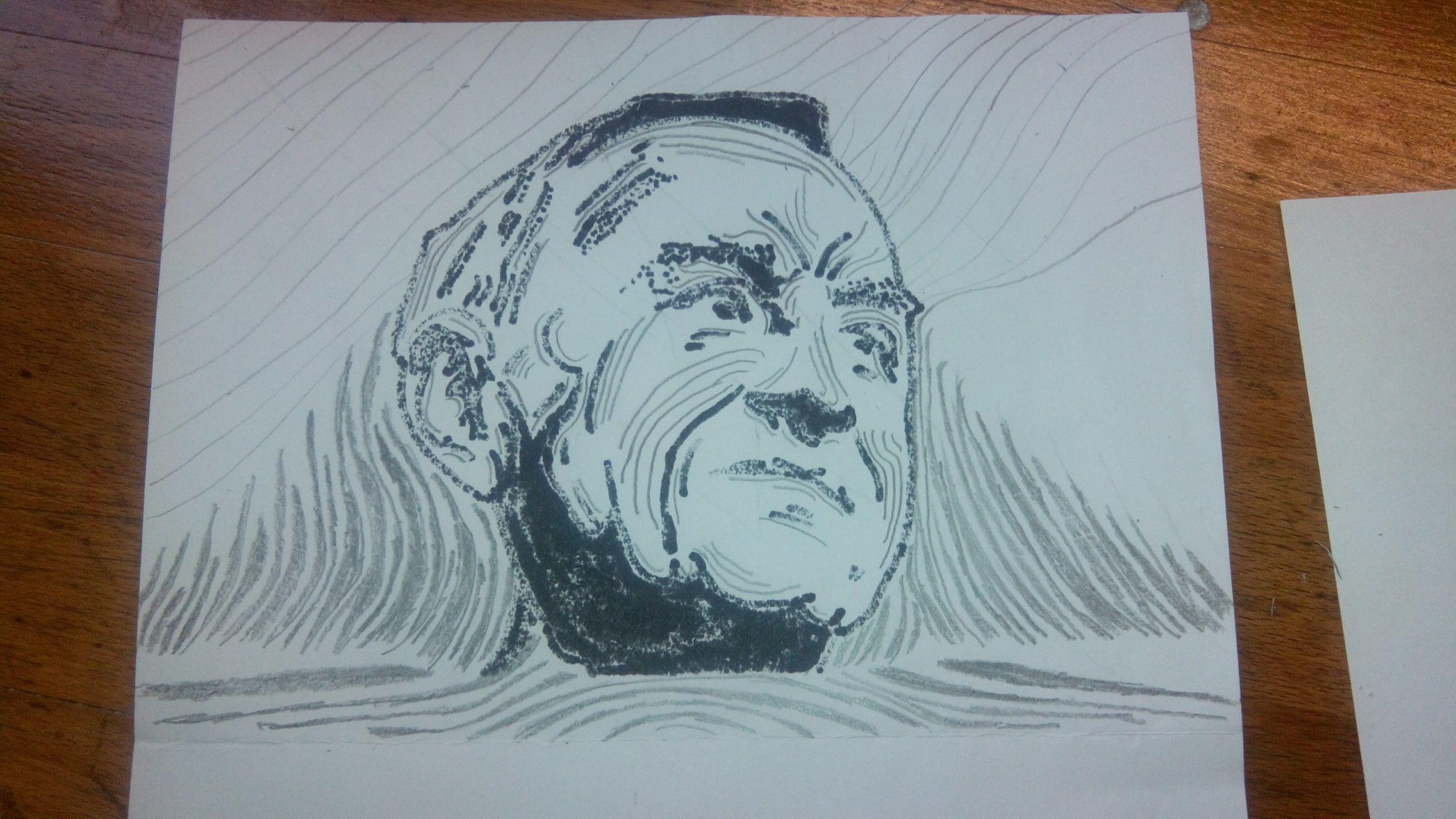 Johan Cruijff expressie tekening