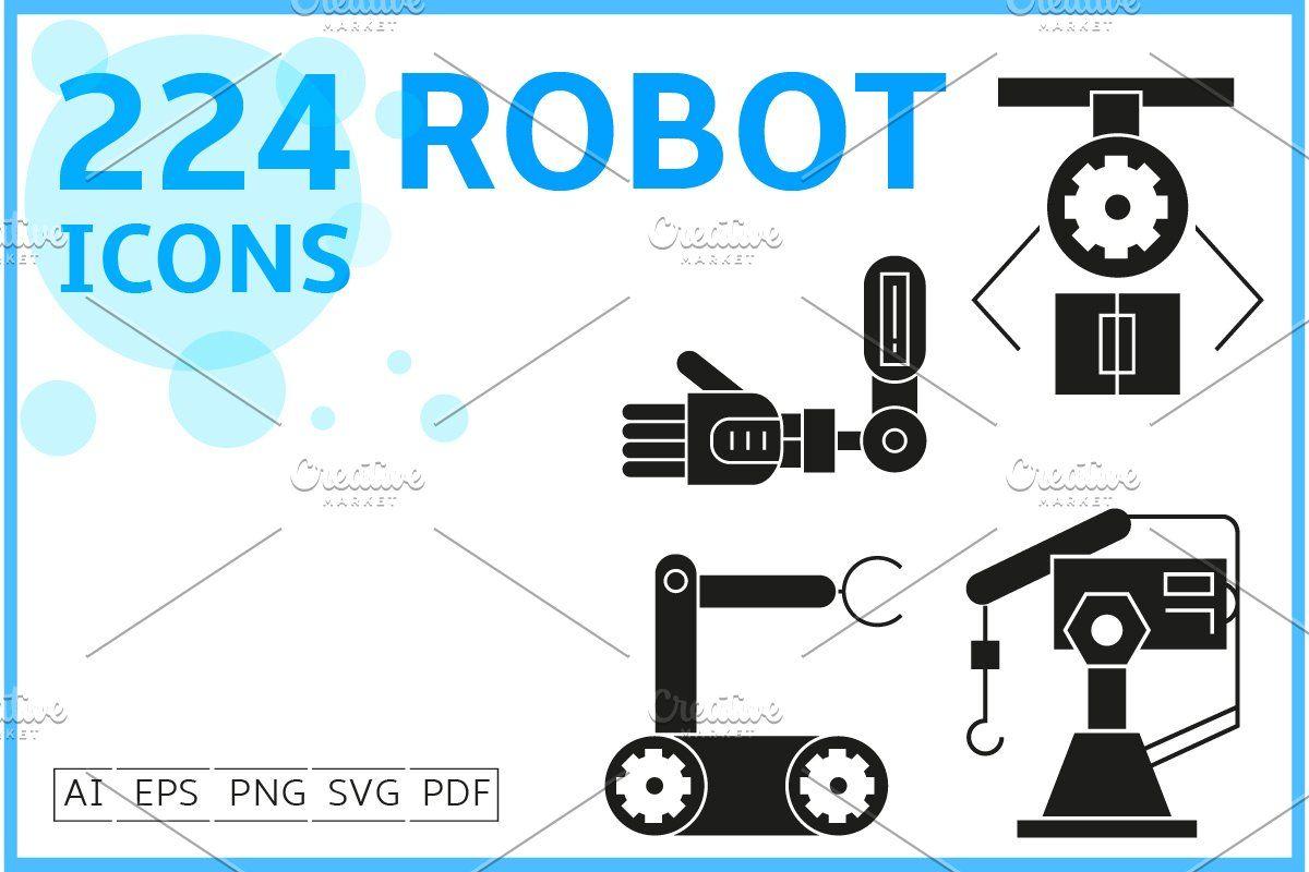 224 Robot Icons Set Robot Icon Icon Set Icon