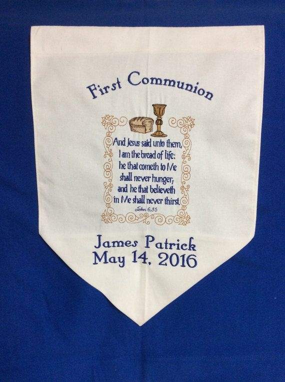 first communion banner with bible verse