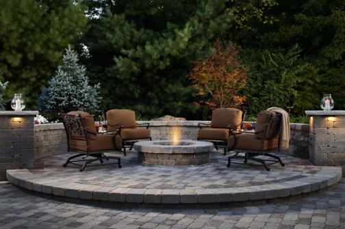 This raised beregac patio and weston wall fire pit define for Fireplace on raised deck