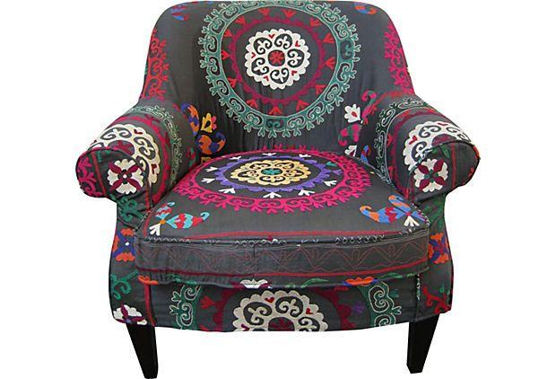 Vintage Suzani Chair on One Kings Lane